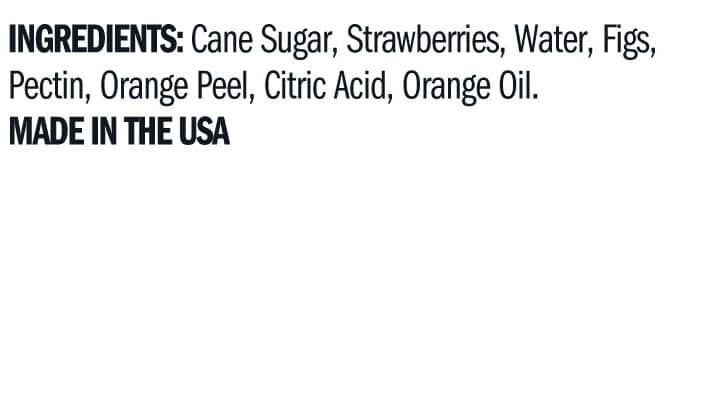 Terrapin Ridge Farms Strawberry & Fig Jam ingredients