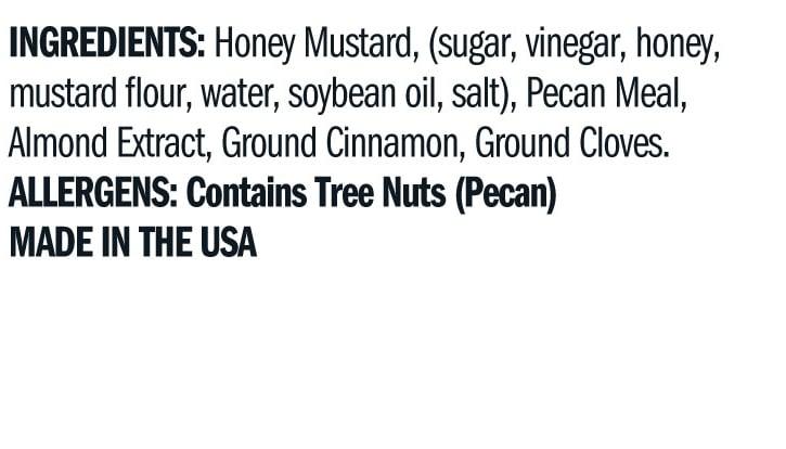 Terrapin Ridge Farms Pecan Honey Mustard ingredients