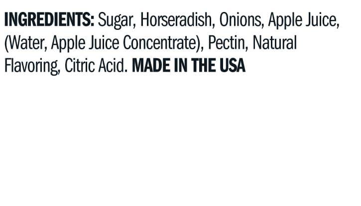 Terrapin Ridge Farms Apple Horseradish Jam ingredients