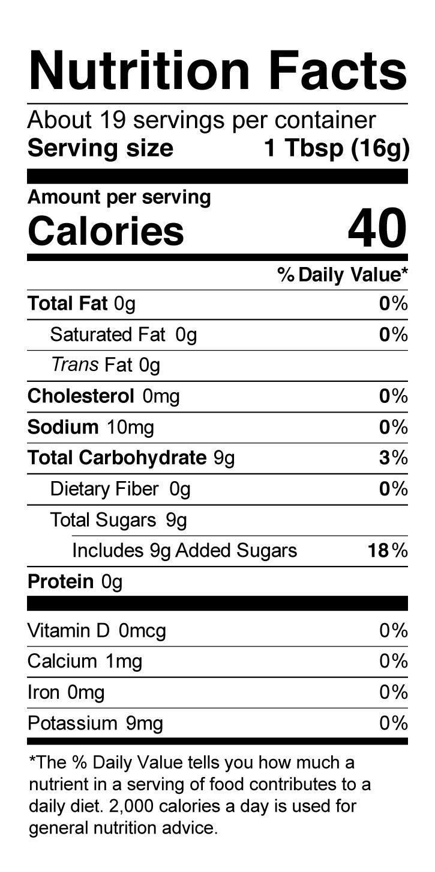 Terrapin Ridge Farms Apple Horseradish Jam nutrition facts