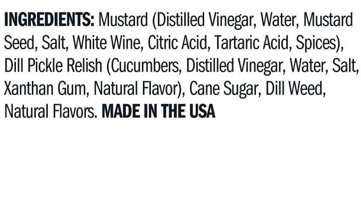 Terrapin Ridge Farms Dill Pickle Mustard ingredients