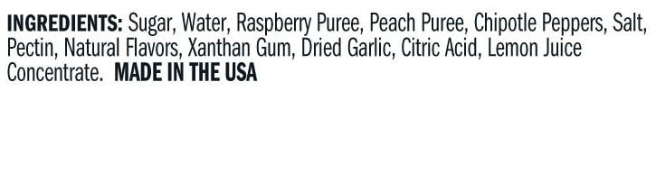 Terrapin Ridge Farms Raspberry Peach Chipotle Sauce ingredients